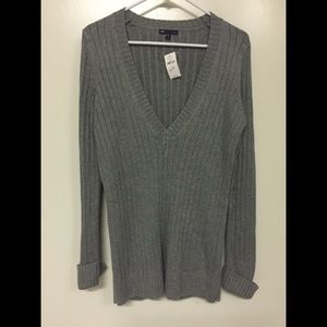 GAP Luxe Acrylic Angora Blend Ribbed Knit Sweater